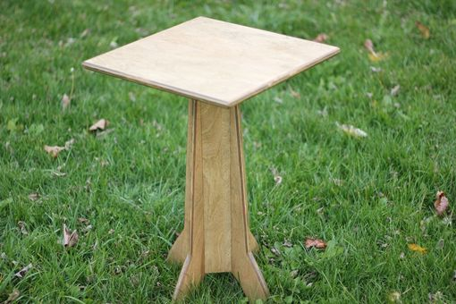 Custom Made Small Wood Side Table Or Nightstand - Pedestal Style