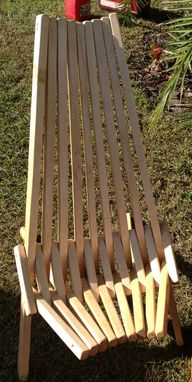 Custom Made Indoor/Outdoor Wooden Slat Chair
