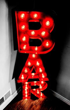 Custom Made Marquee Letters Bar Sign