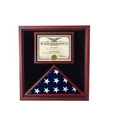 Custom Made Extra Large Award And Flag Display Case For 3x5 Flag