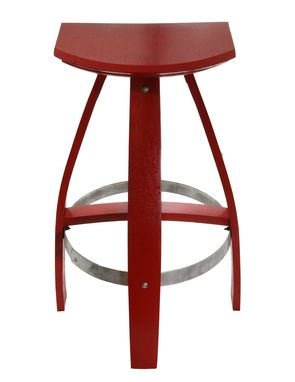 Custom Made Industrial Style Bar Stool In Painted