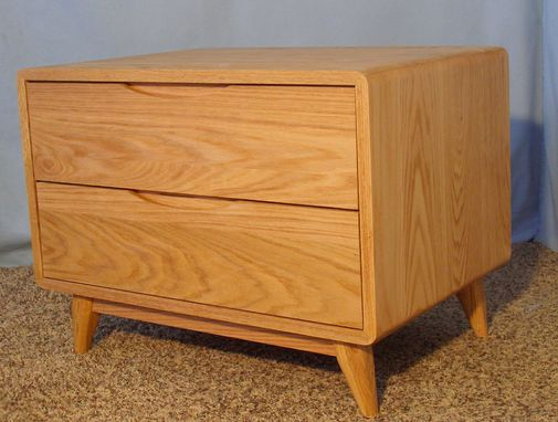 Custom Made 2 Drawer Danish Modern Nightstand (Item #2d620)