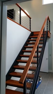 Custom Made Custom Steel And Oak Stairway