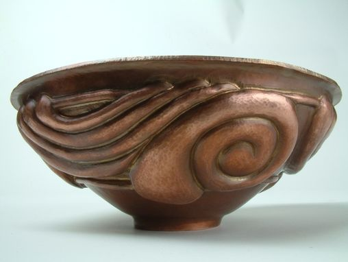 Custom Made Copper Chased Bowl