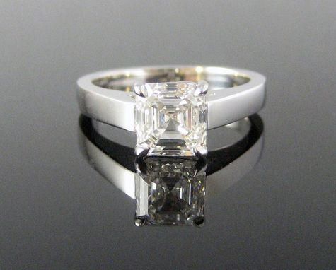 Custom Made Katherine Asscher-Cut Diamond Solitaire Engagement Ring