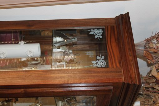 Custom Made Solid Walnut Curio Cabinet