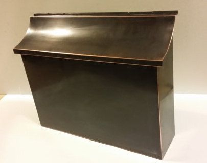 Custom Made Large Flush Mount Patina Copper Mailbox