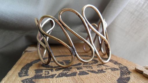 Custom Made Brass Wire Swirly Cuff Bracelet