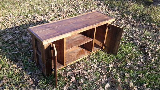 Custom Made Authentic Montana Made Barnwood Tv Stand