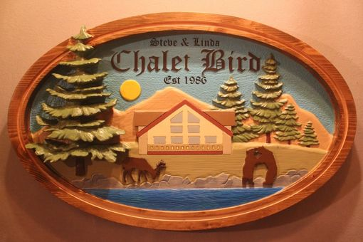 Custom Made Hand Carved Cabin Signs, Carved By Lazy River Studio