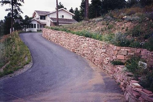 Custom Made Stone Drystack Retaining Wall