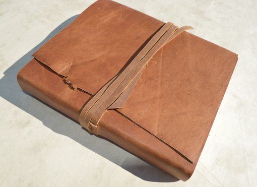Custom Made Personal Bound Leather Diary Planner Distressed Hide Custom Order Journal (491)