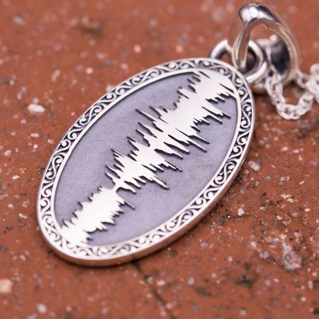 Custom pendants design your own pendant custommade nicholas pendant a thoughtful gift from a brother to a sister we designed a pendant with a soundwave of american pie a song thats meant much to them audiocablefo light catalogue