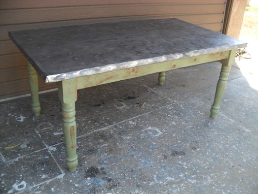 Custom Made Custom Made Table From Reclaimed Wood Made In The Usa