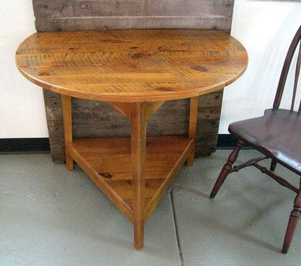Custom Made 3ft Round Drop Leaf End Table