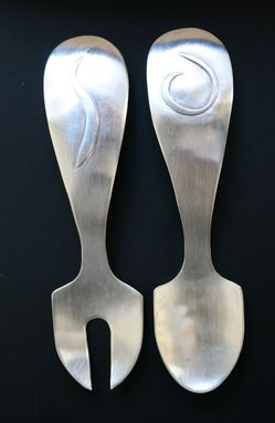 Custom Made Sterling Spoon And Fork