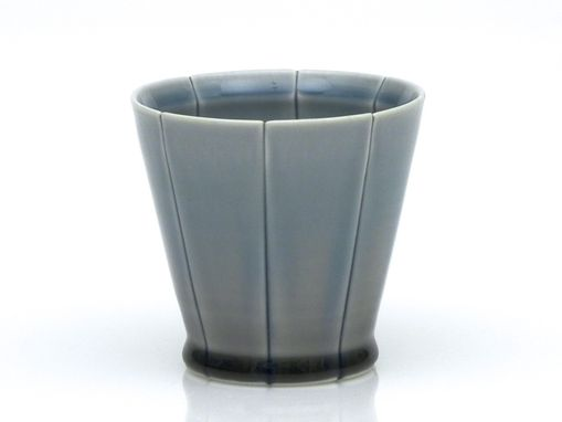 Custom Made Blue And Grey Strip Cocktail Glass