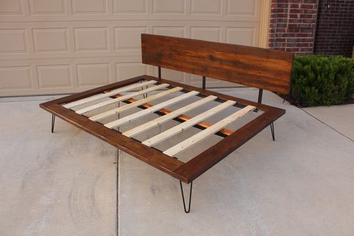 Custom Made Reclaimed Case Study Bed