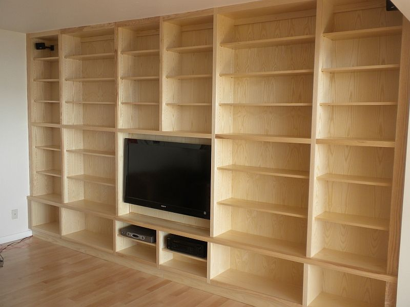 Handmade Ash Wall Unit By Chesapeake Cabinet And Woodworks
