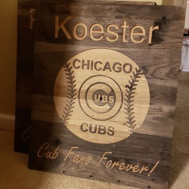 Custom Made Personalized Chicago Cubs Sign - Cub Fans Forever!
