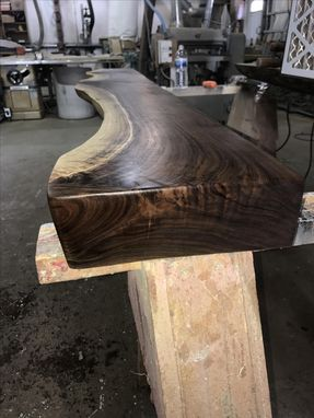 Custom Made Hand Shaped Figured Black Walnut Mantel