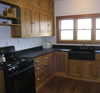 Hand Made Craftsman Quarter Sawn White Oak Kitchen By