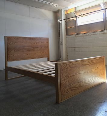 Custom Made Modern Storage Bed In Ash