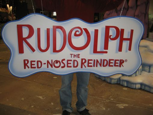 Custom Made Rudolph Sign