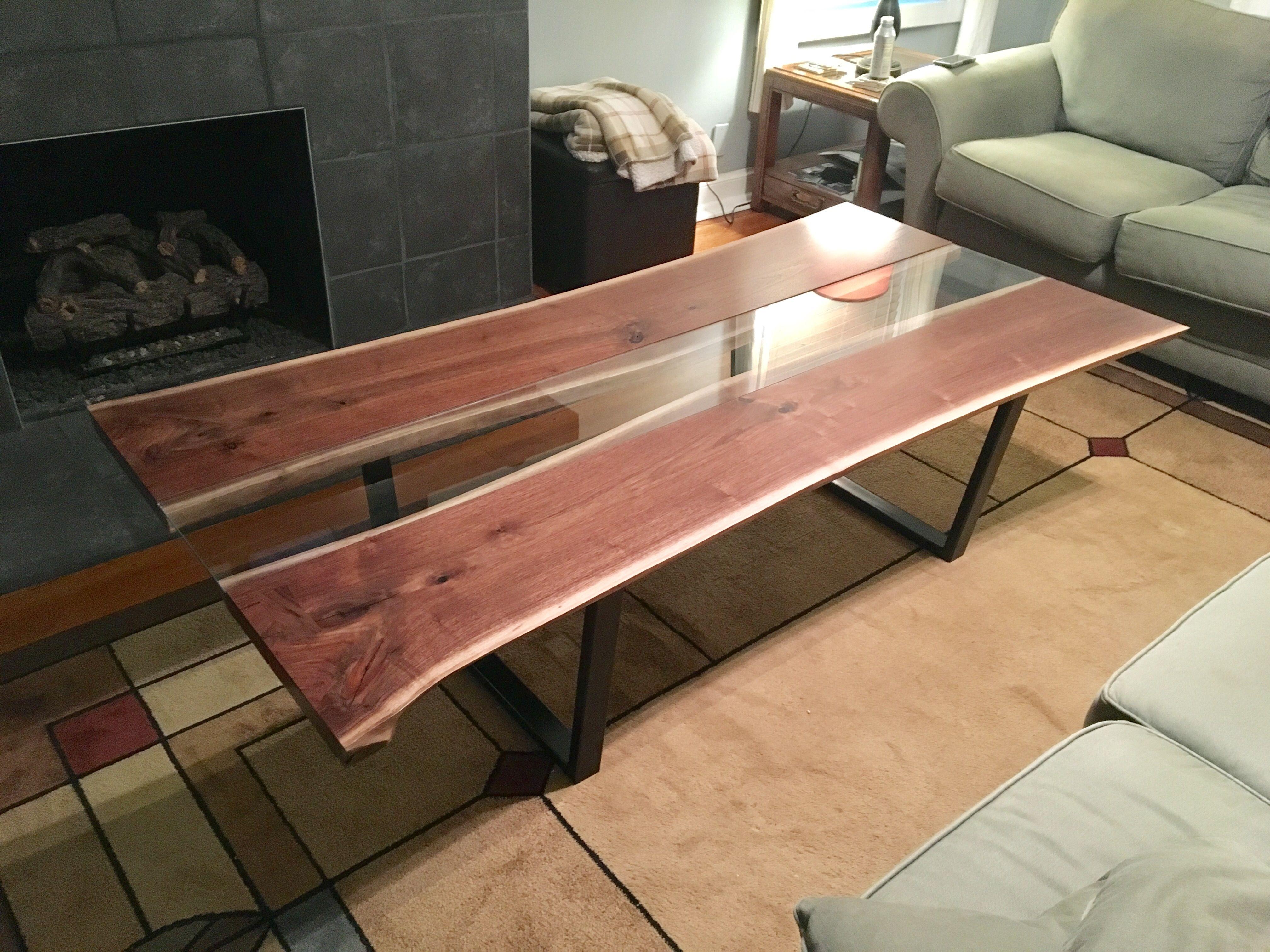 Handmade Live Edge Black Walnut Coffee Table By Kc Custom