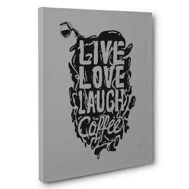 Custom Made Live Love Coffee Kitchen Canvas Wall Art
