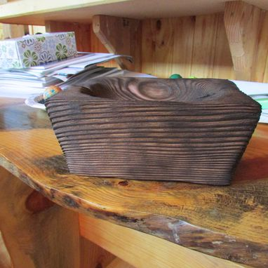 Custom Made Primitive Carved Wooden Bowl, Amazing Character