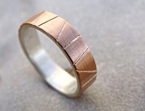 Viking Wedding Ring Gold Mens Band Two Tone Artisan