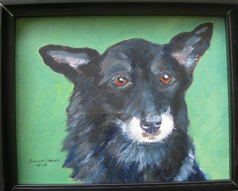 Custom Made Maggie--Custom Dog Pet Portrait