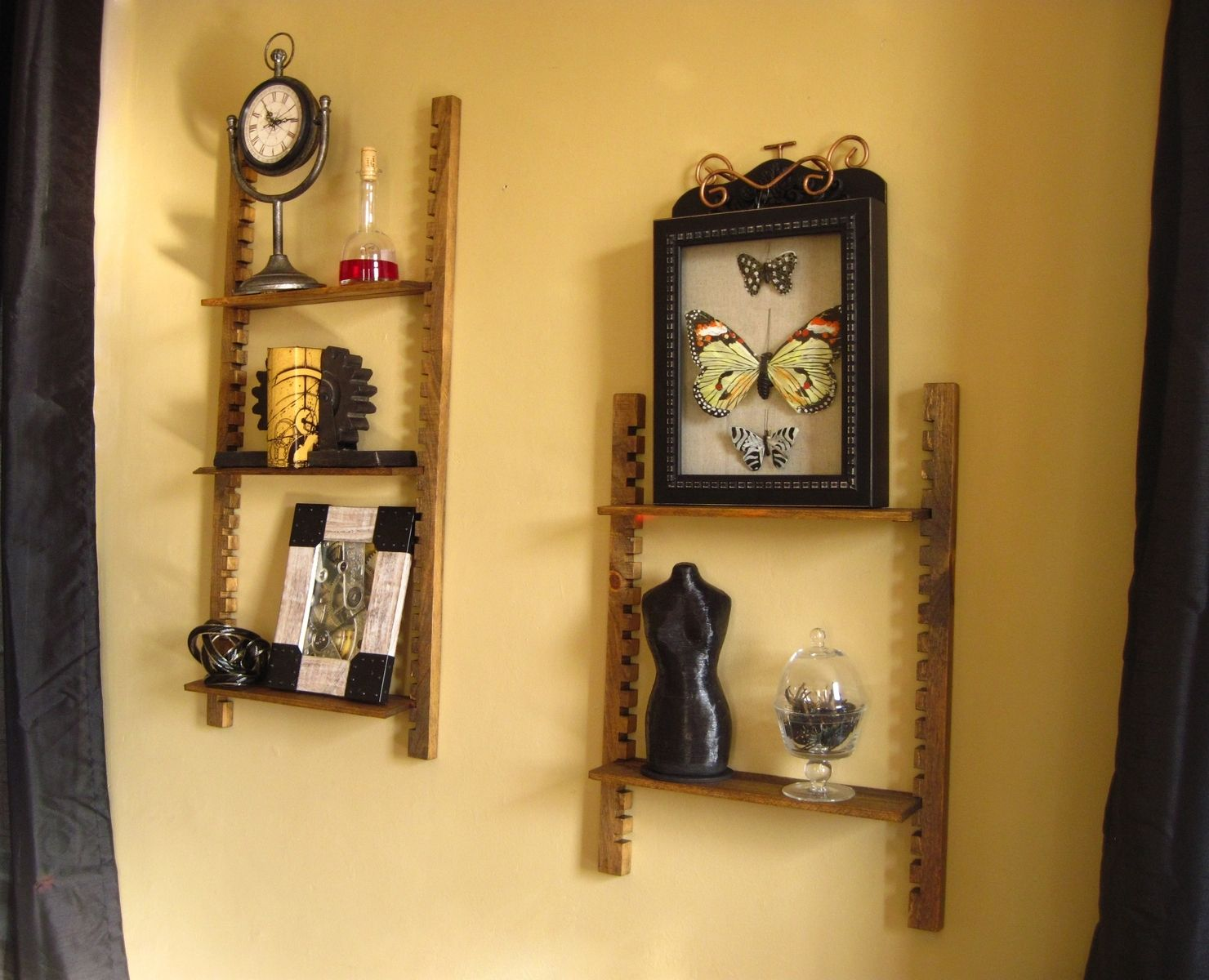 Ring In The Steampunk Decor To Pimp Up Your Home: Handmade Steampunk Cog Shelf By Sky Mountain Woodcraft