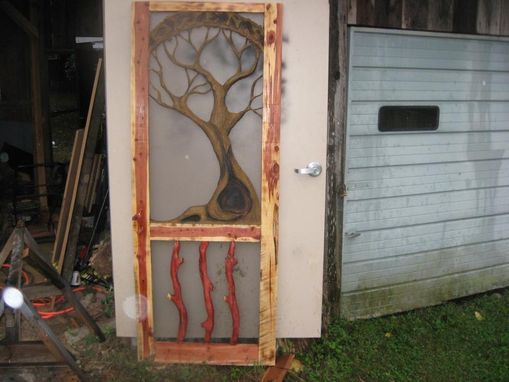 Custom Made Coustom Monogramed Cedar Screen Door