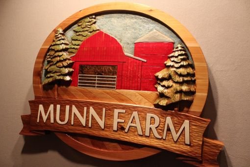 Custom Made Farm Signs | Custom Carved Wood Signs