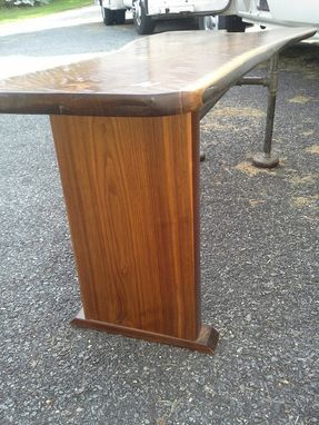 Custom Made Walnut Slab Butterfly Bench/ Coffee Table