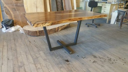Custom Made Walnut Dining Table With Pedestal Base