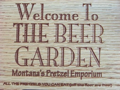 Custom Made Personalized Beer Garden Sign