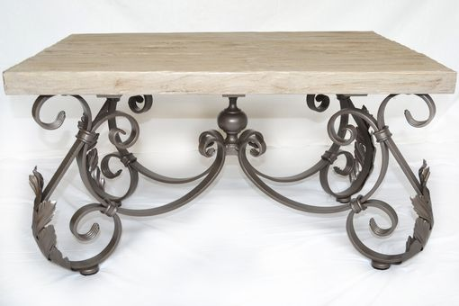 Custom Made Wrought Iron Side Table