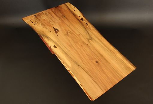 Custom Made Spalted Maple Slab Coffee Table On Sapele Legs
