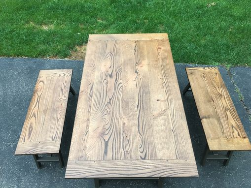 Custom Made Industrial Trestle Table