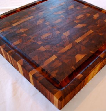 Custom Made Walnut End Grain Butcher Block