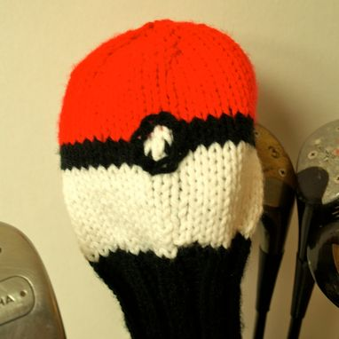 Custom Made Pokemon Pokeball Knit Golf Club Cover