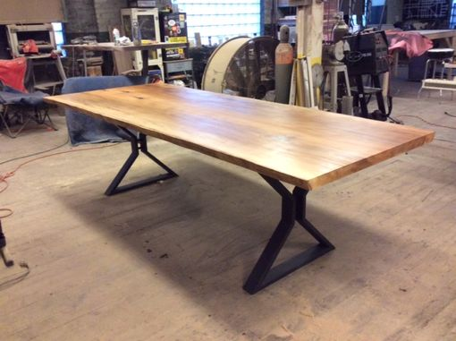 Custom Made Live Edge Sycamore Dining Table