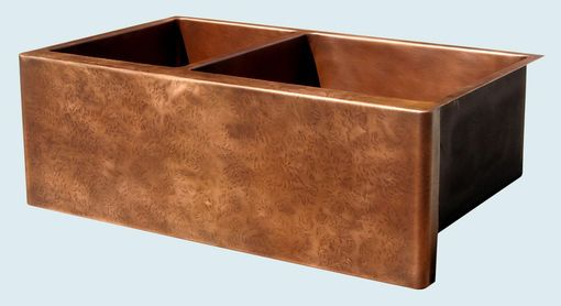 Custom Made Copper Sink With Ray's Farmous Hammering