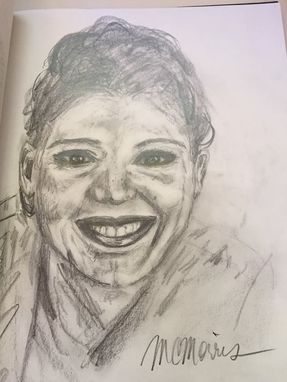 Custom Made Portrait Drawing In Pencil - Custom