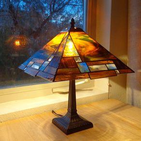 Prairie Style Stained Gl Lamp By Krysia Napiorkowski