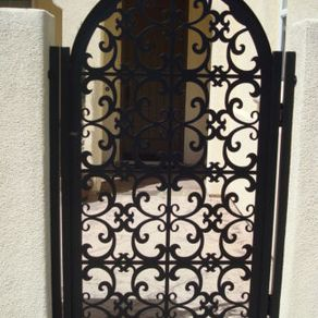 Italian Metal Gate On Decorative Ornamental Custom Iron Garden Entry Art