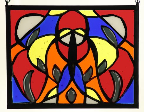 Custom Made Fused & Painted Glass Window